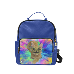 Precious Kitty Blue BackPack Campus backpack/Small (Model 1650)