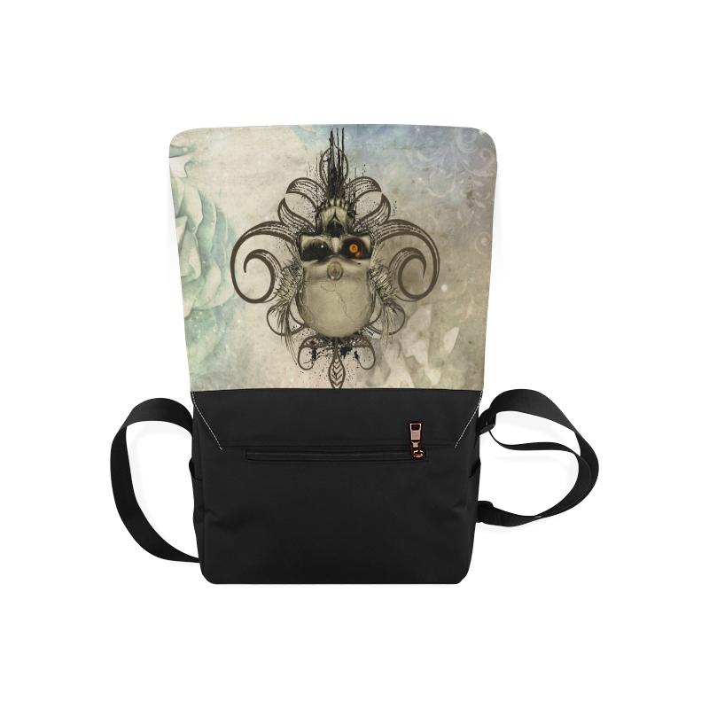 Creepy skull, vintage background Messenger Bag (Model 1628)