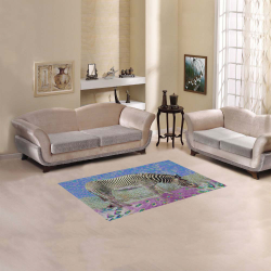 "Dusty Zebra Dreams Area Rug 2'7""x 1'8''"