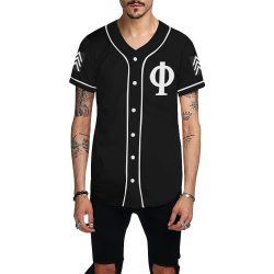 MOOK BLK All Over Print Baseball Jersey for Men (Model T50)