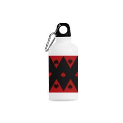 Las Vegas Black Red Play Card Shapes Cazorla Sports Bottle(13.5OZ)