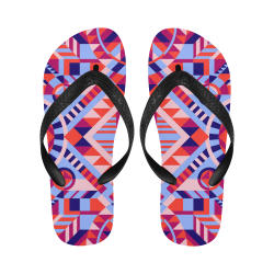 Modern Geometric Pattern Flip Flops for Men/Women (Model 040)