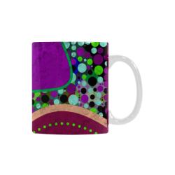 Abstract Pattern Mix - Dots And Colors 2 Custom White Mug (11OZ)