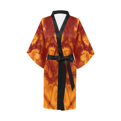 Alien Fire Orange. Kimono Robe