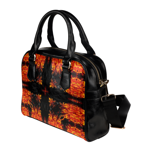 Awesome Luciferian Hell Flower Design Darkstar Shoulder Handbag (Model 1634)