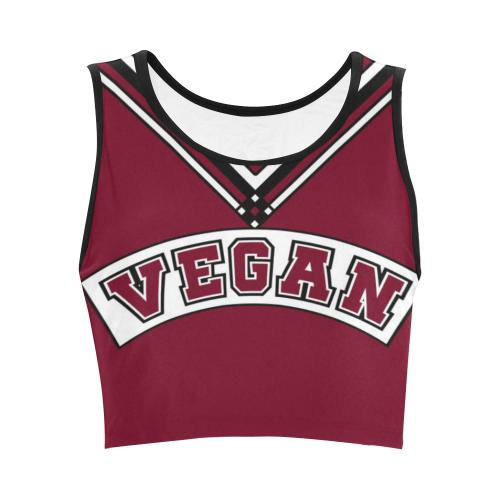 Vegan Cheerleader Women's Crop Top (Model T42)