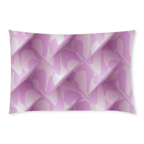 Subtle Light Purple Cubik 3-Piece Bedding Set