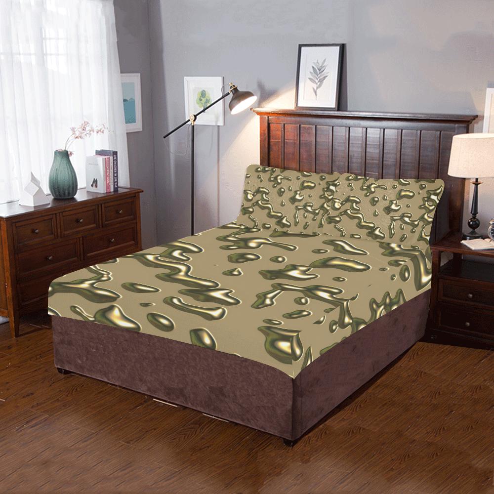 Golden drops 3-Piece Bedding Set