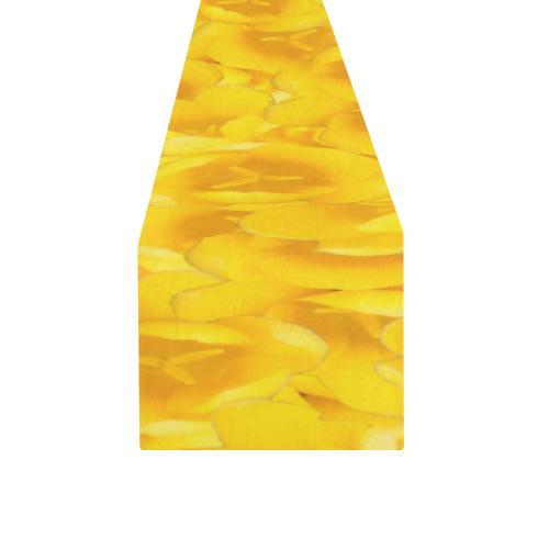 Tangerine Yellow Tulips Table Runner 14x72 inch