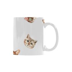 cut cats mug White Mug(11OZ)