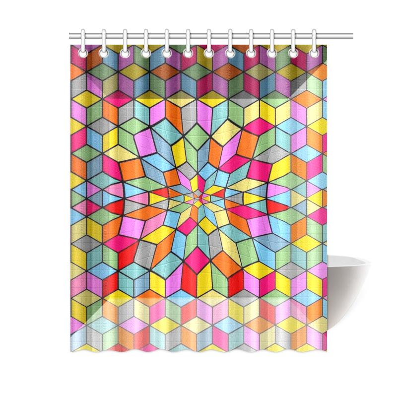 "3 D by Nico Bielow Shower Curtain 60""x72"""