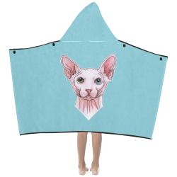 Sphynx cat head Kids' Hooded Bath Towels