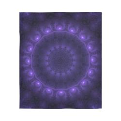 "Void Energy Spiritual Mandala Blacklight Magick Cotton Linen Wall Tapestry 51""x 60"""