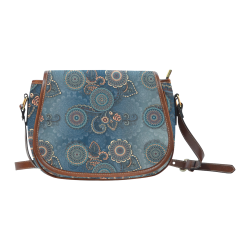 Mandalas Saddle Bag/Small (Model 1649) Full Customization
