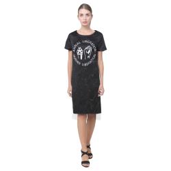 Animal Liberation, Human Liberation Short Sleeves Casual Dress(Model D14)