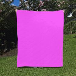 "Neon Pink Quilt 50""x60"""
