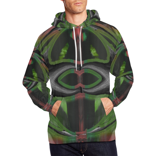 Green Cage Wear Crew All Over Print Hoodie (for Men)