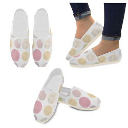Colorful Cupcakes Casual Shoes for Women (Model 004)