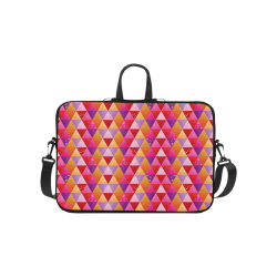 Triangle Pattern - Red Purple Pink Orange Yellow Laptop Handbags 10""