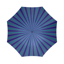 Classic Blue ZOOM Stripes Foldable Umbrella (Model U01)