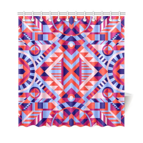 "Modern Geometric Pattern Shower Curtain 69""x72"""