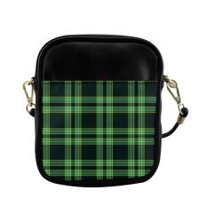 stripes sea green Sling Bag (Model 1627)