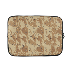Vintage Desert Brown Camouflage Custom Laptop Sleeve 15''