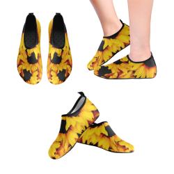 Sunflower Love Kids' Slip-On Water Shoes (Model 056)