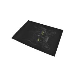 Black Cat Area Rug 5'x3'3''