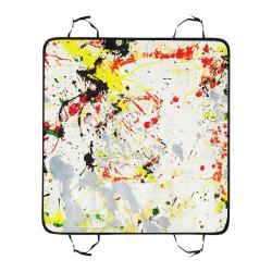 Black, Red, Yellow Paint Splatter Pet Car Seat 55''x58''