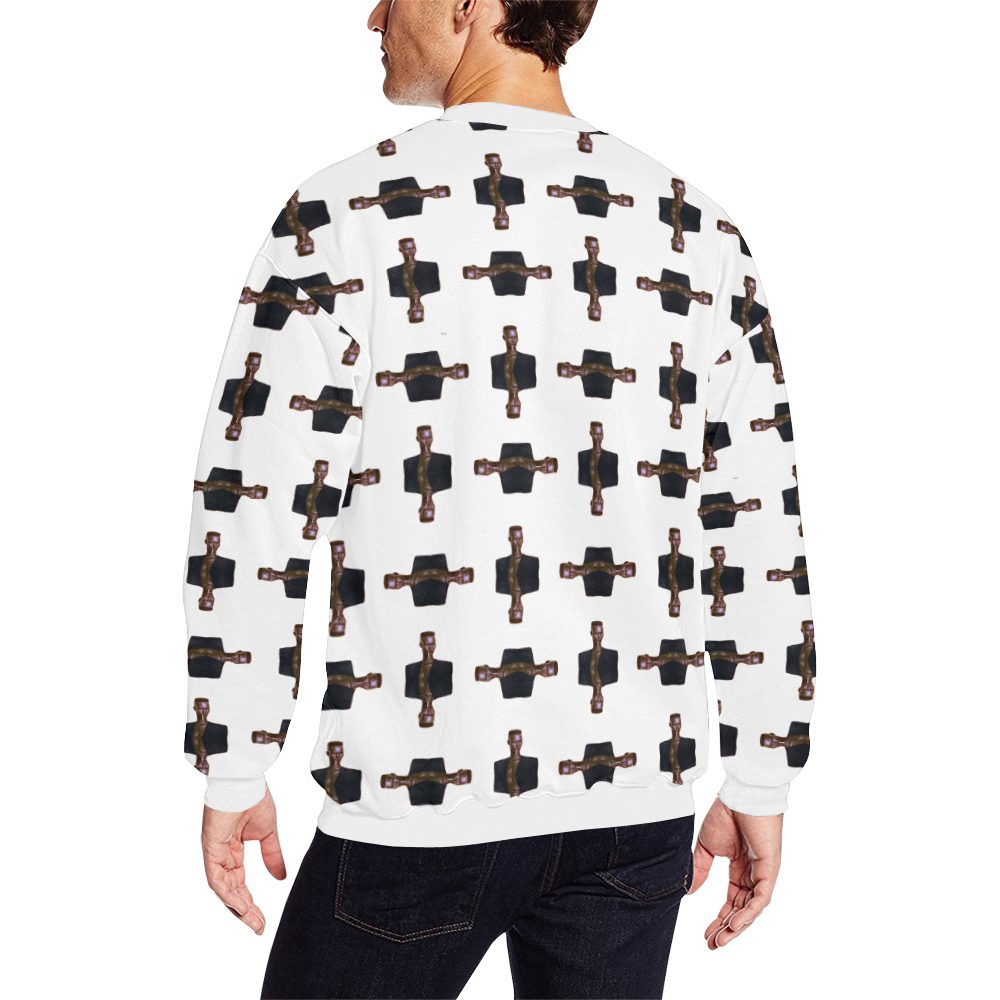 grace trans Men's Oversized Fleece Crew Sweatshirt (Model H18)