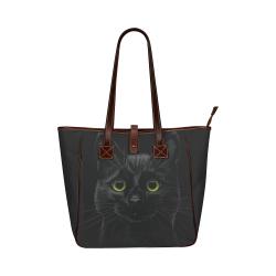 Black Cat Classic Tote Bag (Model 1644)
