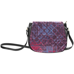 pixels blue red #pixels Classic Saddle Bag/Large (Model 1648)