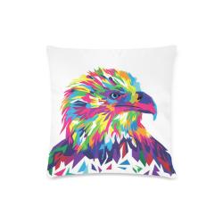 "Rainbow Eagle Custom Zippered Pillow Case 16""x16""(Twin Sides)"