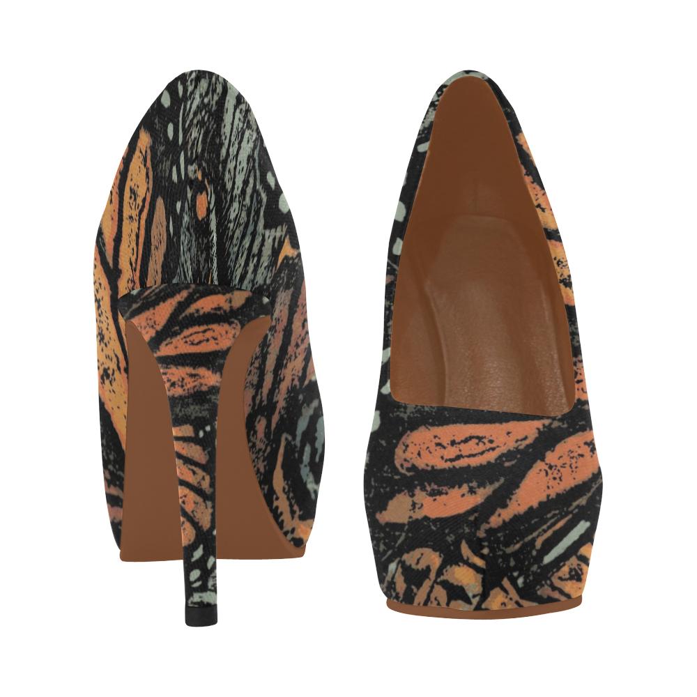 Monarch Collage Women's High Heels (Model 044)