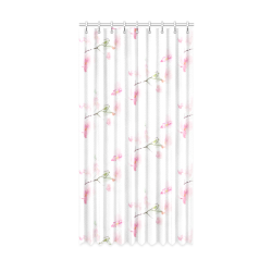 "Pattern Orchidées Window Curtain 50"" x 96""(One Piece)"