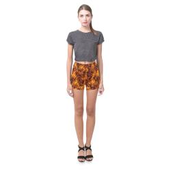 Flaming Fire Pattern Briseis Skinny Shorts (Model L04)
