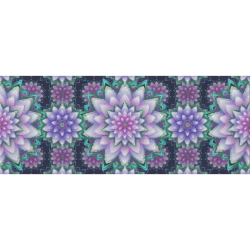 """Lotus Flower Ornament - Violet and green Gift Wrapping Paper 58""""x 23"""" (1 Roll)"""