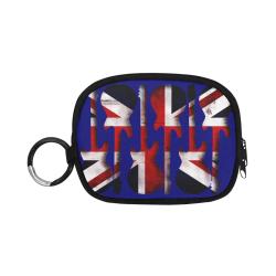 Union Jack British UK Flag Guitars - Blue Coin Purse (Model 1605)