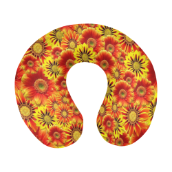 Brilliant Orange And Yellow Daisies U-Shape Travel Pillow