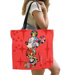 mick All Over Print Canvas Tote Bag/Large (Model 1699)