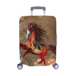 "Wonderful horse with skull, red colors Luggage Cover/Medium 22""-25"""