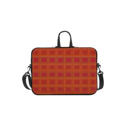 "Red orange golden multicolored multiple squares Laptop Handbags 13"""