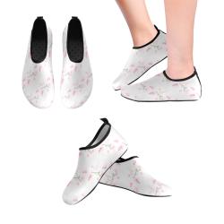 Pattern Orchidées Women's Slip-On Water Shoes (Model 056)