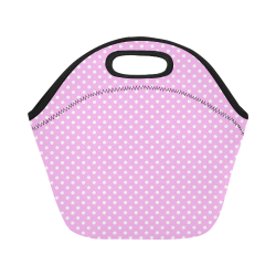 Polka-dot pattern Neoprene Lunch Bag/Small (Model 1669)
