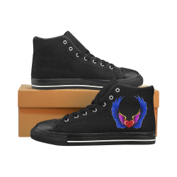 Winged heart ss Men's Classic High Top Canvas Shoes /Large Size (Model 017)
