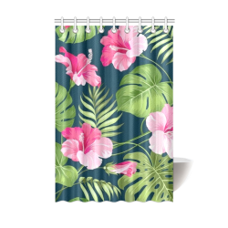 "tropical flowers Shower Curtain 48""x72"""