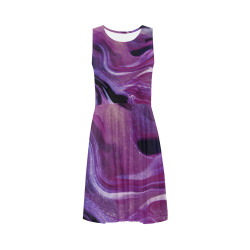 Fun and Trendy Wearable Art - Purple Sleeveless Ice Skater Dress (D19)