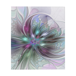 """Colorful Fantasy Abstract Modern Fractal Art Flower Quilt 60""""x70"""""""