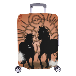 """Black horse silhouette Luggage Cover/Large 26""""-28"""""""